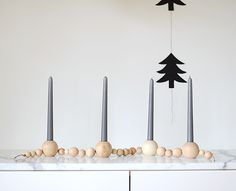 DIY Beaded Advent Candle Holder. Would be even better. painted.