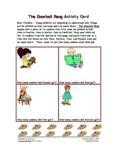 The Doorbell Rang Activity Card Worksheet | Lesson Planet  sc 1 st  Pinterest & The Doorbell Rang Lesson Plans | The Doorbell Rang Activities | Math ...