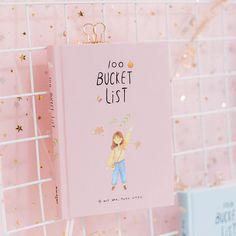 2018 Season 2 Korean Kawaii 100 Bucket Wish List Plan To Do List Cute Flower Colorful Boxed Daily Planner School Stationary A5