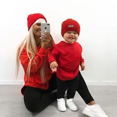 Mother and Son Matching Outfits Mommy and Me Drinking Buddies – Cute Adorable Baby Outfits Mother Son Matching Outfits, Mom And Son Outfits, Friend Outfits, Baby Boy Outfits, Toddler Boy Fashion, Kids Fashion, Outfits Madre E Hija, Red And Black Outfits, Mommy And Son
