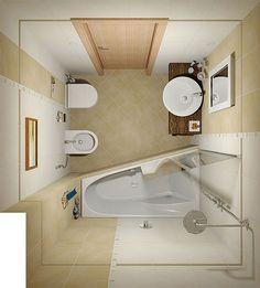 Готовый дизайн проект ванной комнаты