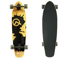 "The Quest Rorshack Bamboo Longboard Skateboard 34-Inch is one of the best longboards for the beginner. 7-ply hybrid flexible bamboo-maple deck (34"" X 9""); 6"" wide reverse kingpin Aluminum truck; 80A Polyurethane Wheel (65 x 51mm); ABEC-5 rated stainless steel bearing with hollow 4mm risers- all these high-quality parts make it really worthy one."