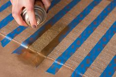 Burlap and Gold Table Runner