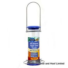 Natures Feast All Seasons Small Nyjer Seed Feeder For Wild Birds 23cm Natures Feast All Seasons Small Nyjer Seed…