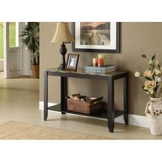 Perfect for your entryway or living room, the Monarch Specialties Cappuccino Faux Marble Top Console Table makes a stylish statement. It features. Foyer Table Decor, Decoration Table, Entryway Decor, Office Decor, Consoles, Marble Console Table, Table Mirror, Entry Tables, Sofa Tables