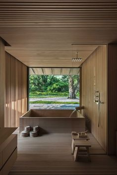 Inside Kengo Kuma's Water Cherry Villa on the Japanese Coast — Design Anthology Casa Tokyo, House Tokyo, Japanese Style House, Japanese Interior Design, Japan Interior, House Interior Design, Japanese Bath House, Modern Japanese Architecture, Japanese Home Decor