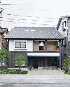 House Front Design, Small House Design, Cool House Designs, Facade Design, Exterior Design, Architecture Design, Japan Modern House, Small Japanese House, Style At Home