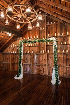 Mason Jar Wagon Wheel Wedding Chandelier for Rustic Barn Weddings