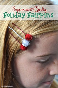 Tween craft - holiday hairpins by Club Chica Circle