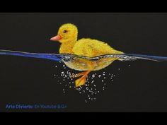 Cómo dibujar un pato - Patito amarillo nadando - YouTube