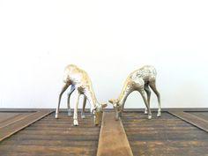 vintage brass doe pair by compostthis, $34.00 #christmas #vintage