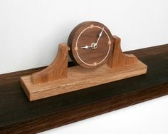 Traditional 'napoleon's hat' shaped contemporary wooden clock by www.davidtowers.biz