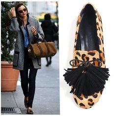 NEW Women Calf Skin Loaper Handmade leather shoes&beatiful 4tassel  #HandmadeBomNavi #LoafersMoccasins