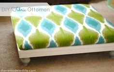 DIY Furniture: DIY Ottoman: DIY Crafts: Fabric Ottoman