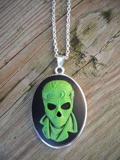 Rockabilly Skeleton Cameo Necklace by designsbydayzi on Etsy, $17.00