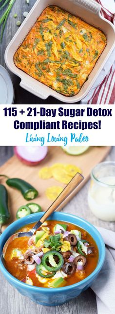 Over 115 21-Day Sugar Detox compliant recipes! Designed to make your sugar detox EASY and DELICIOUS!