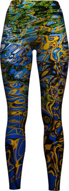 water-reflections-nature-abstract-art WOMEN LEGGING PAOM-VFS by riverme