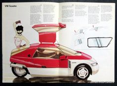 Centerfold VW Scooter Concept Car Brochure.
