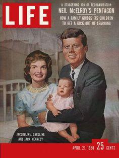 LIFE Magazine April 21, 1958 - Jacqueline, Caroline, & Senator John F. Kennedy