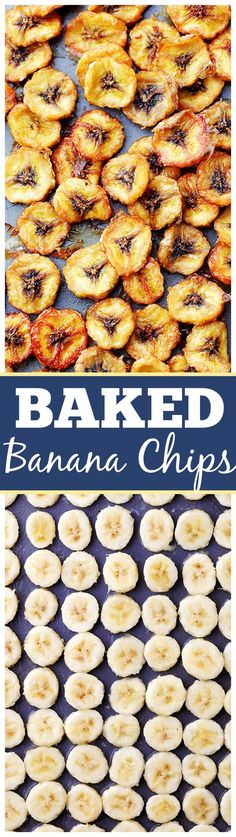 Homemade Baked Banana Chips – Deliciously sweet and guilt-free baked banana chips are so easy to make and are the perfect portable, healthy snack to have on hand.: