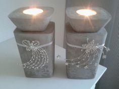 Kerzenhalter diy beton und glanz