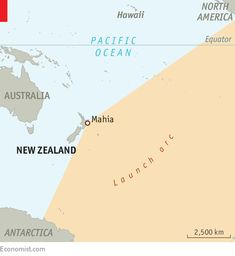 Is New Zealand the world's best rocket-launching site? - ECONOMIST COLUMN One small, private space firm thinks so Innovative Companies, Pacific Ocean, Science And Technology, New Zealand, Innovation, Lab, Product Launch, World, Space