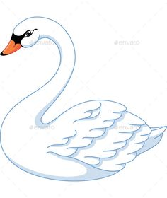 Swan - Animals Characters A selection of bird photos Art Drawings For Kids, Bird Drawings, Easy Drawings, Embroidery Transfers, Embroidery Patterns, Swan Drawing, Swan Animal, Swan Tattoo, Swan Painting