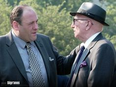James Gandolfini and Dominic Chianese in The Sopranos Tv Quotes, Movie Quotes, Dominic Chianese, Gangster S, Tony Soprano, Best Tv Series Ever, The Way I Feel, Boss Man, Great Tv Shows