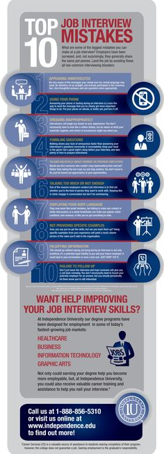 infographic infographic : (Avoid These Top 10 Job Interview Mistakes ) betterh. Image Description infographic : (Avoid These Top 10 Job Interview Interview Skills, Job Interview Questions, Job Interview Tips, Job Interviews, Interview Nerves, Interview Techniques, Interview Process, Job Resume, Resume Tips