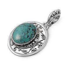925 Sterling Silver Genuine Turquoise Pendant (Jewelry) http://www.amazon.com/dp/B005XEN0LY/?tag=pindemons-20 B005XEN0LY