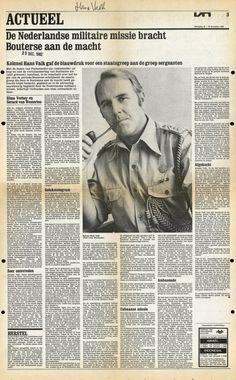 De rol van Nederland en kolonel Valk bij de coup van Bouterse in Suriname (1980) - Karel Donk's Blog, klik voor artikel + video