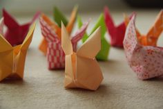 inflattable origami rabbits