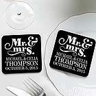 Personalized Happy Couple Wedding Favor Coasters