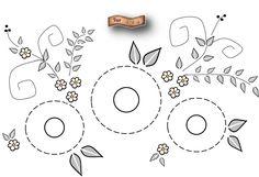 Estos son los diseños que les propongo... desde luego ustedes deciden finalmente lo que quieren bordar en sus mandilitos... para el Seca M...