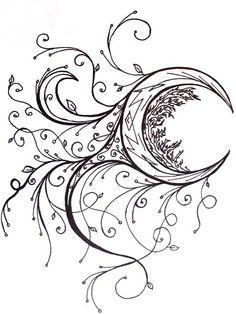 10e37624594f0 art ideas for drawing moons - Google Search Unalome, Sun Tattoos, Tribal  Tattoos,