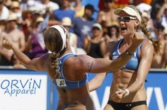 Misty May and Keri Walsh Pro Beach Volleyball Players
