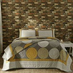 Paloma Queen Quilt Set with Bonus Panels - Lange General Store - 1 King Quilt Bedding, Bedding Sets, Yellow Bedding, Quilt Sets Queen, Modern Duvet Covers, Country Bedding, Home Decor Furniture, Quilts, Design
