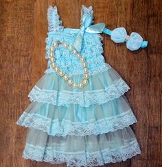 Hey, I found this really awesome Etsy listing at https://www.etsy.com/listing/263734542/adorable-aqua-lace-ruffle-dress-necklace