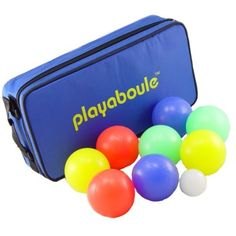 Amazon.com : Playaboule Lighted Glo Boules - Bocce Ball / Petanque Set : Bocce Ball Set Glow In The Dark : Sports & Outdoors