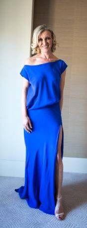 Silk marine blue Brownlow gown 2014 #cottonon
