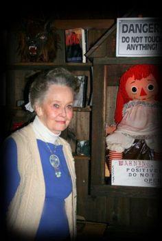 Lorraine Warren and Annabelle