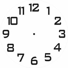 downloadable clock faces printables pinterest clock face