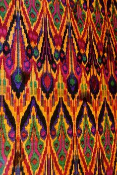 Uzbekistan, Bukhara, Ikat by Australians Studying Abroad (Christopher Wood), via Flickr