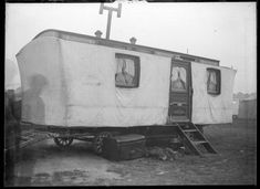 The images in this set relate to the subject of caravans and camping. They have been selected from the Arthur J Fenwick collection of circus. Camping 101, Camping World, Camping Ideas, Outdoor Camping, Vintage Caravans, Vintage Travel Trailers, Gypsy Wagon, Greatest Adventure, Recreational Vehicles