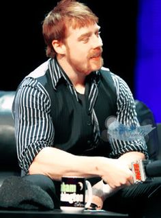 Sheamus with his hair all flopped down.  Adorable!