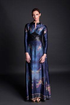 Jennifer Rothwell Leather and Silk Kells Space Mythology Dress Irish Fashion, Mythology, Designers, Silk, Space, Leather, Fashion Design, Inspiration, Collection