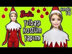 Barbie Yılbaşı Kostümü Yapımı - Kendin Yap Barbie Bebek Kıyafetleri - Oyuncak Yap - YouTube