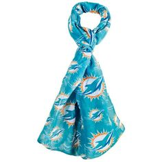 Forever Collectibles Miami Dolphins All Over Logo Infinity Scarf ($25) ❤ liked on Polyvore featuring accessories, scarves, aqua, infinity scarf shawl, round scarves, loop scarves, infinity circle scarf and tube scarf