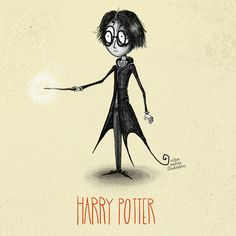Geek Art: Artist Re-creates Harry Potter Characters in the Style of Tim Burton! Art Tim Burton, Tim Burton Stil, Tim Burton Kunst, Burton Burton, Arte Do Harry Potter, Harry Potter Characters, Beetlejuice, Hermione Granger, Harry Potter Ilustraciones