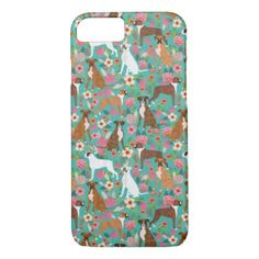 Boxer Dog Florals phone case - dog iphone case - floral gifts flower flowers gift ideas